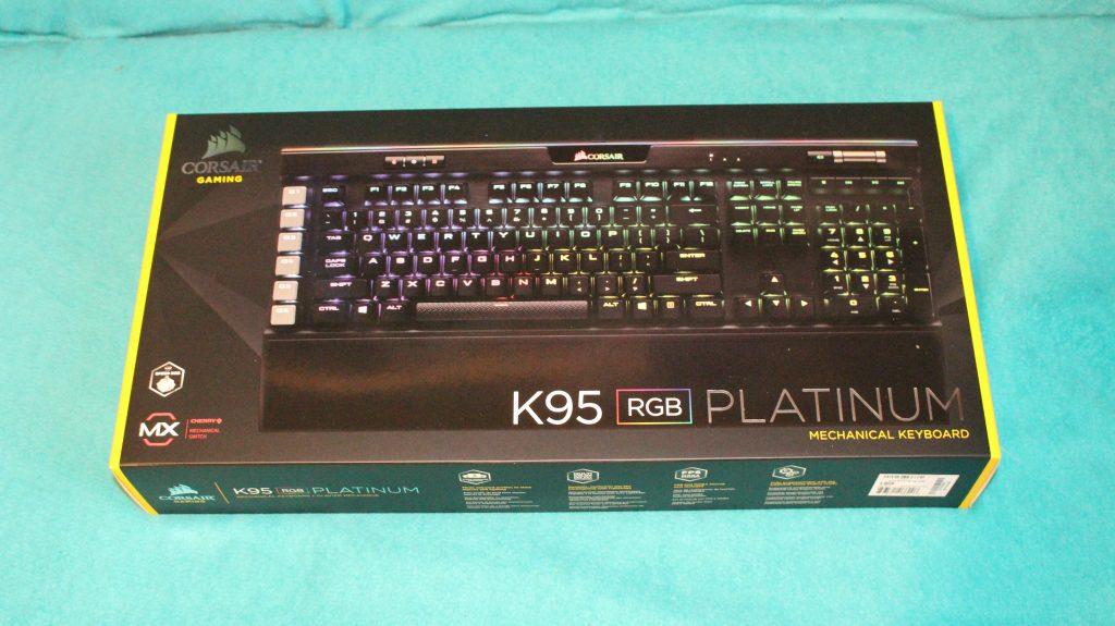 Corsair K95 Platinum RGB Mechanical Keyboard unboxing